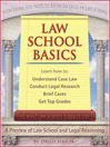 Law School Basics (eBook): A Preview of Law School and Legal Reasoning