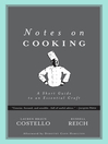 Notes on Cooking (eBook): A Short Guide to an Essential Craft