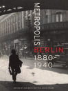 Metropolis Berlin (eBook): 1880–1940