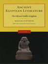Ancient Egyptian Literature (eBook): Volume I: The Old and Middle Kingdoms