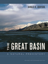 The Great Basin (eBook): A Natural Prehistory