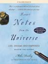 More Notes From the Universe (MP3): Life, Dreams and Happiness