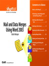 Mail and Data Merges Using Word 2003 (Digital Short Cut) (eBook)