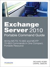 Exchange Server 2010 Portable Command Guide (eBook)