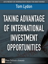 Taking Advantage of International Investment Opportunities (eBook)