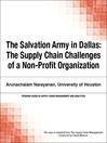 The Salvation Army in Dallas (eBook): The Supply Chain Challenges of a Non-Profit Organization