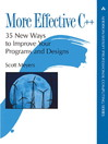 More Effective C++ (eBook)