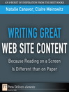 Writing Great Web Site Content (eBook): Because Reading on a Screen Is Different than on Paper