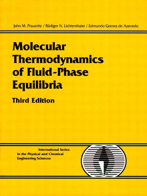 Molecular Thermodynamics of Fluid-Phase Equilibria (eBook)