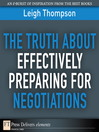 The Truth About Effectively Preparing for Negotiations (eBook)