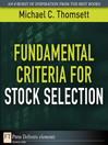 Fundamental Criteria for Stock Selection (eBook)