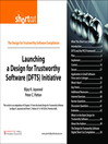 Launching a Design for Trustworthy Software (DFTS) Initiative (Digital Short Cut) (eBook)
