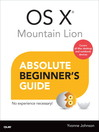 OS X Mountain Lion Absolute Beginner's Guide (eBook)