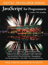 JavaScript™ for Programmers (eBook)
