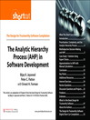 The Analytic Hierarchy Process (AHP) in Software Development (Digital Short Cut) (eBook)
