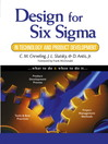 Design for Six Sigma in Technology and Product Development (eBook)