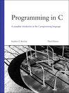 Programming in C (eBook)
