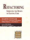 Refactoring (eBook): Improving the Design of Existing Code