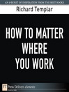How to Matter Where You Work (eBook)