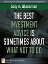 The Best Investment Advice Is Sometimes About What Not to Do (eBook)
