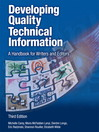Developing Quality Technical Information (eBook): A Handbook for Writers and Editors
