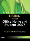Special Edition Using Microsoft Office Home and Student 2007 eBook
