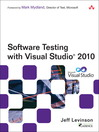 Software Testing with Visual Studio® 2010 (eBook)