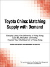 Toyota China (eBook): Matching Supply with Demand