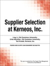 Supplier Selection at Kerneos, Inc. (eBook)