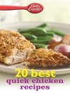 Betty Crocker 20 Best Quick Chicken Recipes (eBook)