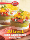 Betty Crocker 20 Best Cold Appetizer Recipes (eBook)