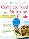American Dietetic Association Complete Food and Nutrition Guide (eBook)