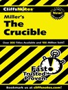 CliffsNotes on Miller's The Crucible (eBook)