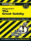 CliffsNotes on Fitzgerald's The Great Gatsby (eBook)