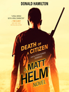 Death of a Citizen (MP3): Matt Helm Series, Book 1
