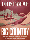 Big Country, Volume 3 (MP3): Stories of Louis L'Amour