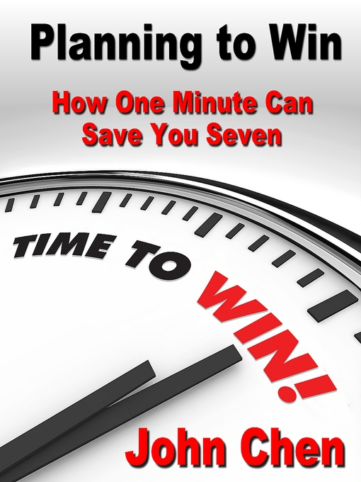 Planning to Plan (MP3): How One Minute Can Save You Seven