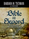 Bible and Sword (MP3): England and Palestine from the Bronze Age to Balfour