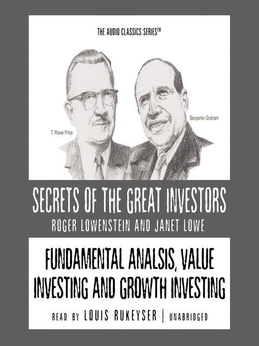 Fundamental Analysis, Value Investing and Growth Investing (MP3)