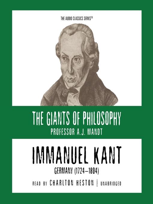 Immanuel Kant (MP3): Germany (1724-1804)