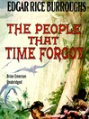 The People that Time Forgot (MP3): Caspak Triology, Book 2