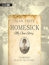 Homesick (MP3): My Own Story