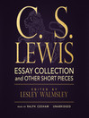 C. S. Lewis (MP3): Essay Collection and Other Short Pieces