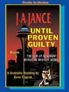 Until proven guilty a J.P. Beaumont mystery
