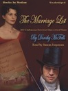 The Marriage List (MP3)