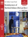 Reminiscences of Sherlock Holmes (MP3): (His Last Bow)