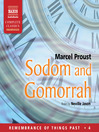 Sodom and Gomorrah (MP3): Remembrance of Things Past Series, Volume IV