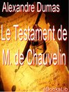 Le testament de M. de Chauvelin (eBook)