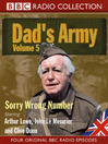 Sorry Wrong Number (MP3): Dad's Army, Volume 5