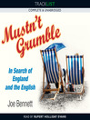 Mustn't Grumble (MP3): In Search of England and the English
